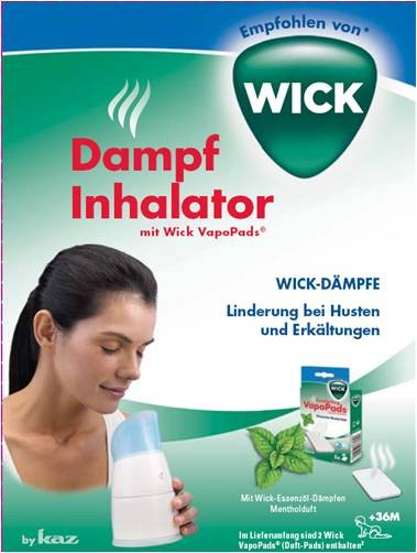 Wick Dampf-Inhalator W1300-DE manuell