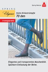 Stütz Knie-Strümpfe Fein 70den sand Größe 36/37