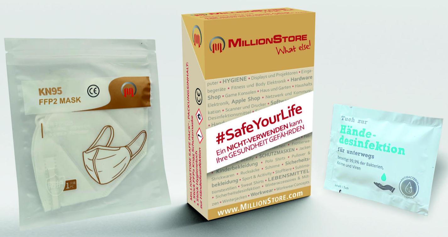Safe Pack Atemschutzmaske FFP2 plus Desinfektionstuch ...