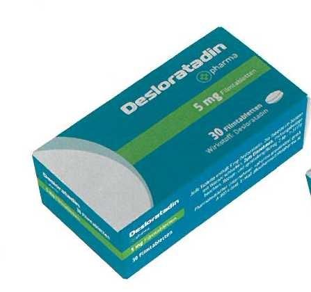 Desloratadin +pharma 5mg Filmtabletten