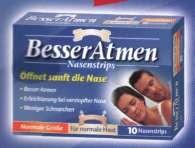 Besser Atmen Nasenpflaster Transparent