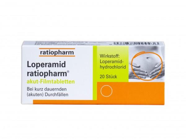 Loperamid ratiopharm® akut Filmtabletten