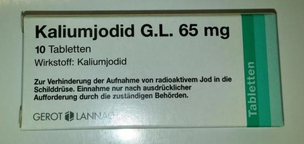 Kaliumjodid G.L. 65 mg-Tabletten